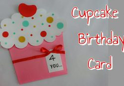 Easy Birthday Card Ideas For Kids Diy Cupcake Card Cupcake Birthday Card For Kidssimple And Easy Cupcake Card Making For Kids