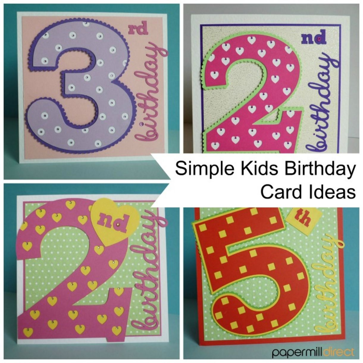 Easy Birthday Card Ideas For Kids Project Simple Kids Age Cards