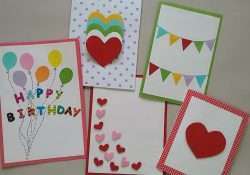 Easy Birthday Card Making Ideas 5 Cute Easy Greeting Cards Srushti Patil
