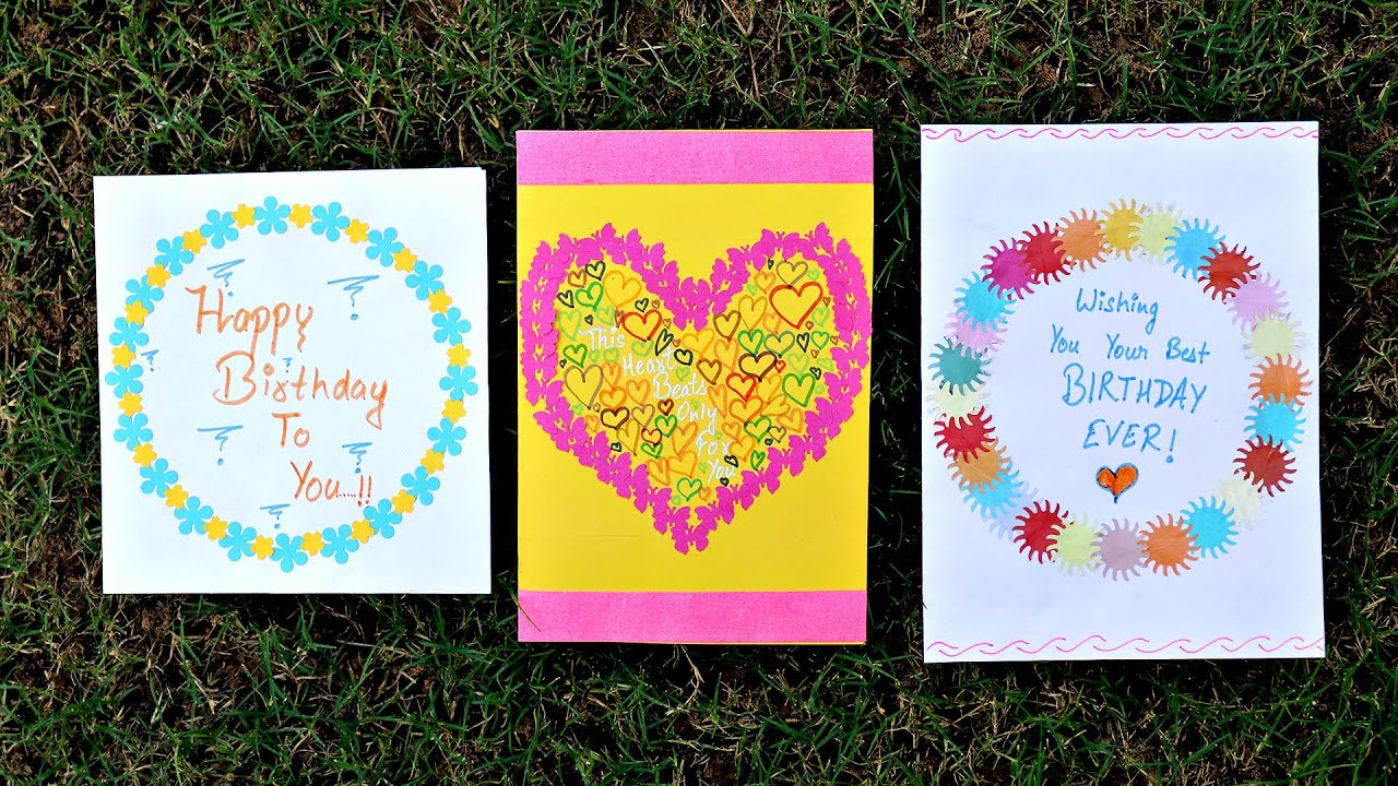 Greeting Card Ideas For Birthday Cute And Easy Birthday Greeting Card Idea