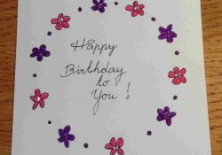 Hand Drawn Birthday Card Ideas Hand Drawn Birthday Card Ideas