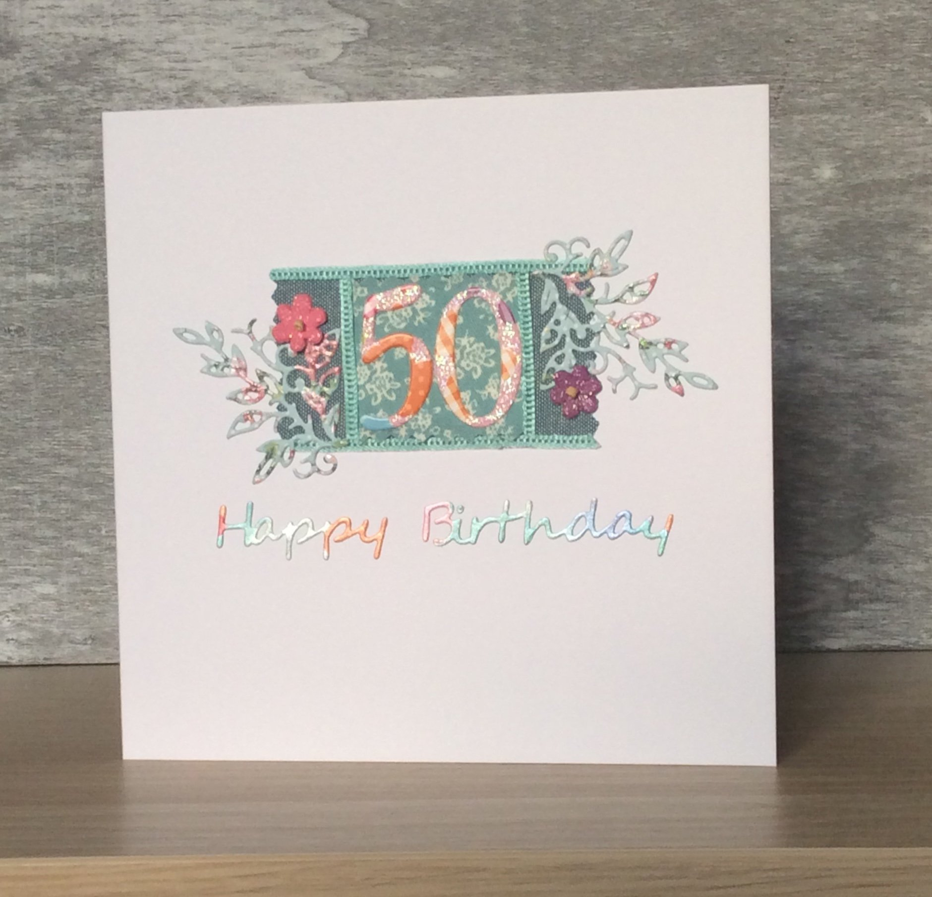 Handmade 50Th Birthday Card Ideas Handmade Greeting Cards Pretty Birthday Cards Using Teal Coloured Ribbons 50th 60th And 70th