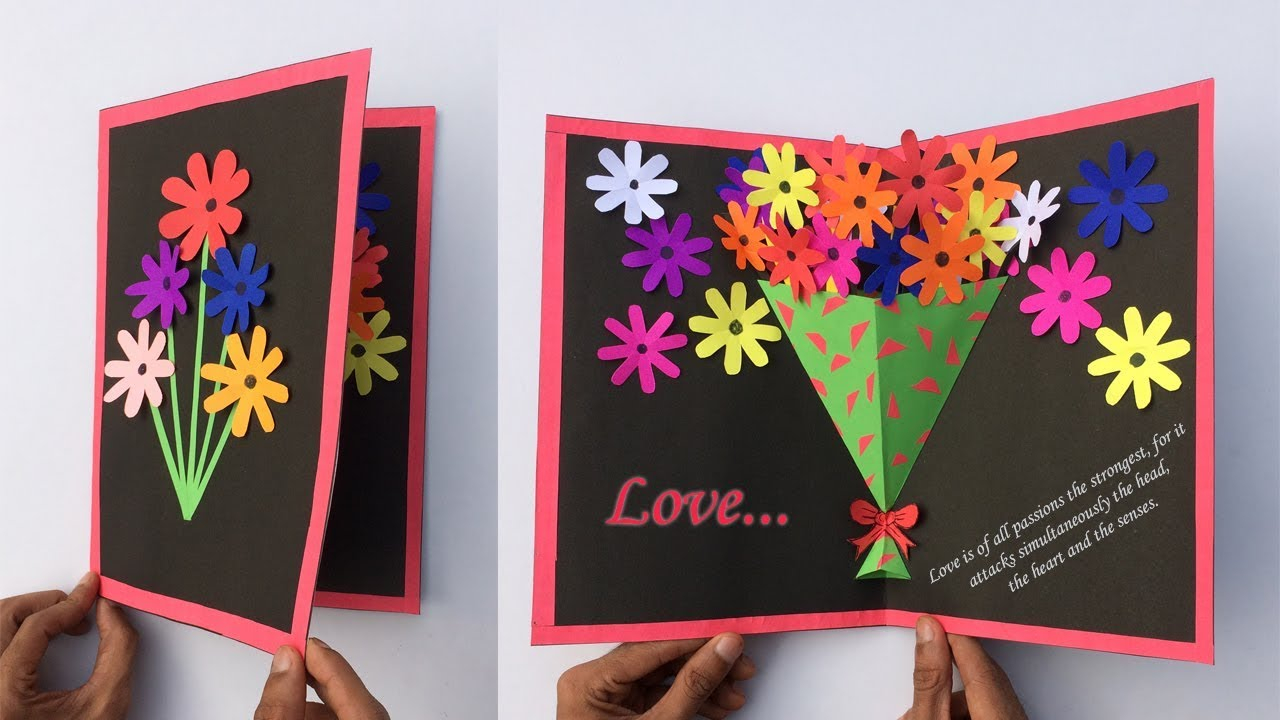 Handmade 50Th Birthday Card Ideas Very Easy Pop Up Greeting Cards Greeting Card Making New Year Pop Up Greeting Cards Craft
