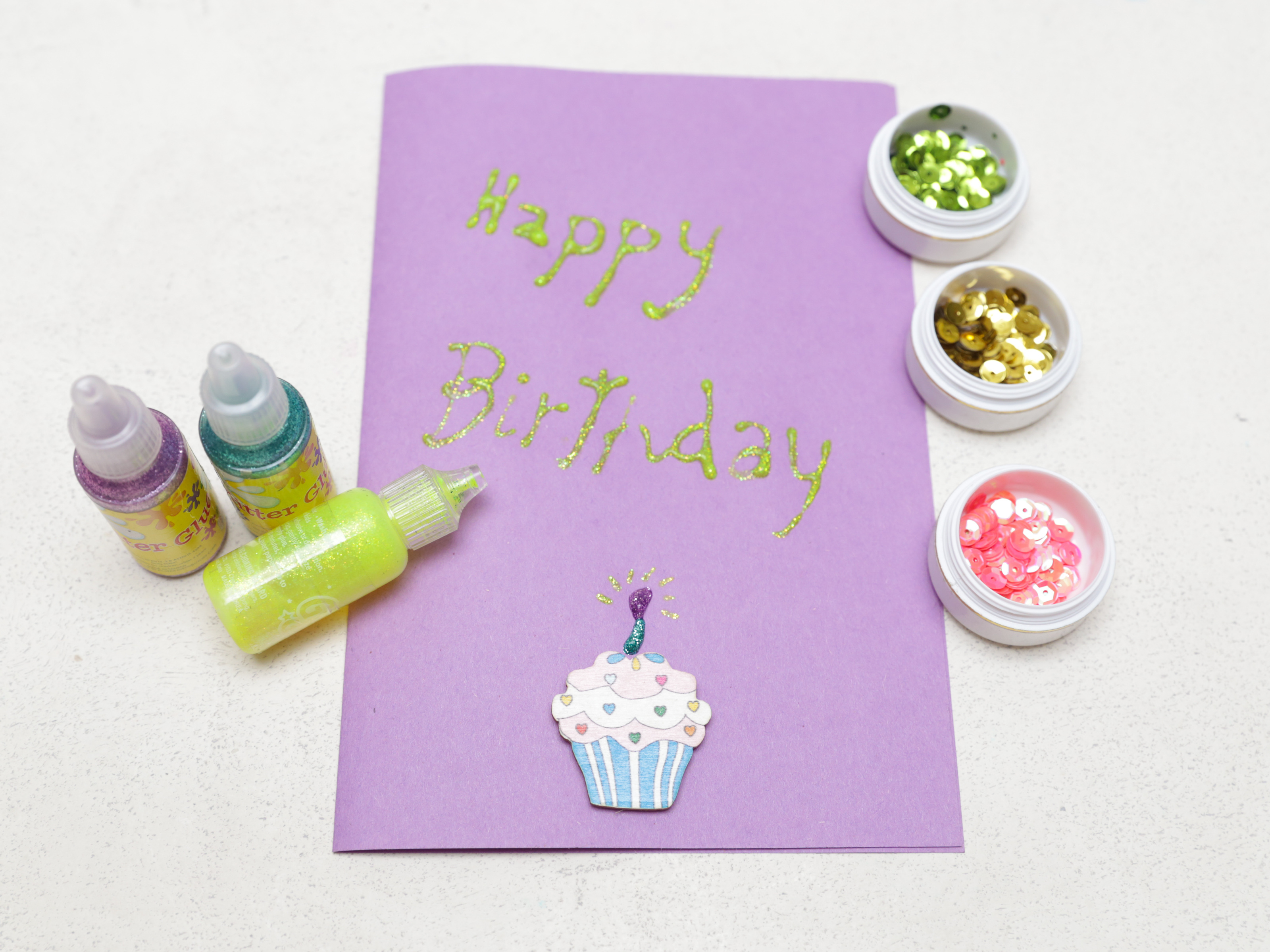 Handmade Birthday Card Ideas For Daughter How To Make A Simple Handmade Birthday Card 15 Steps
