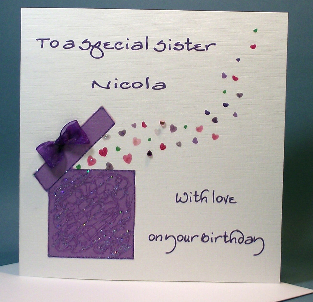 Handmade Birthday Card Ideas For Daughter Simple Sister Birthday Card Design With Gift Box Embellishment