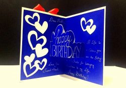 Handmade Birthday Card Ideas For Husband Beautiful Birthday Pop Up Card Idea Handmade Birthday Card Easy Complete Tutorial