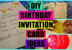 Handmade Birthday Invitation Card Ideas Diy Birthday Invitation Card