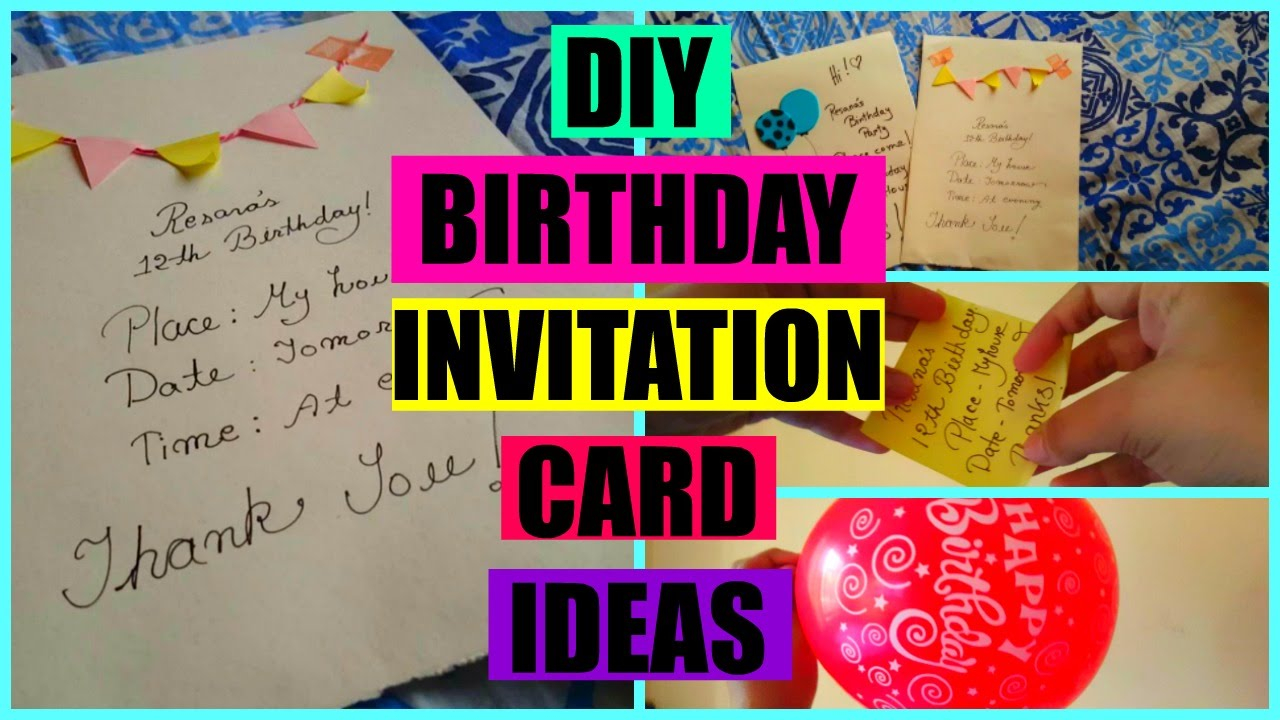 Handmade Birthday Invitation Cards Ideas Diy Birthday Invitation Card