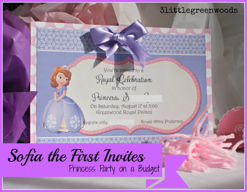 Handmade Birthday Invitation Cards Ideas Sofia The First Birthday Invites