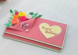 Handmade Card Ideas For Birthday Beautiful Handmade Birthday Cardbirthday Card Idea