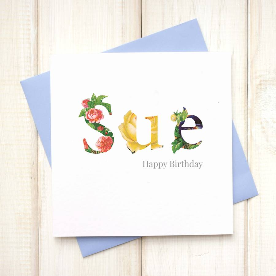 Happy Birthday Card Ideas For Dad Personalised Floral Birthday Card