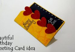 Idea For Birthday Card Beautiful Birthday Greeting Card Idea Diy Birthday Card Complete Tutorial