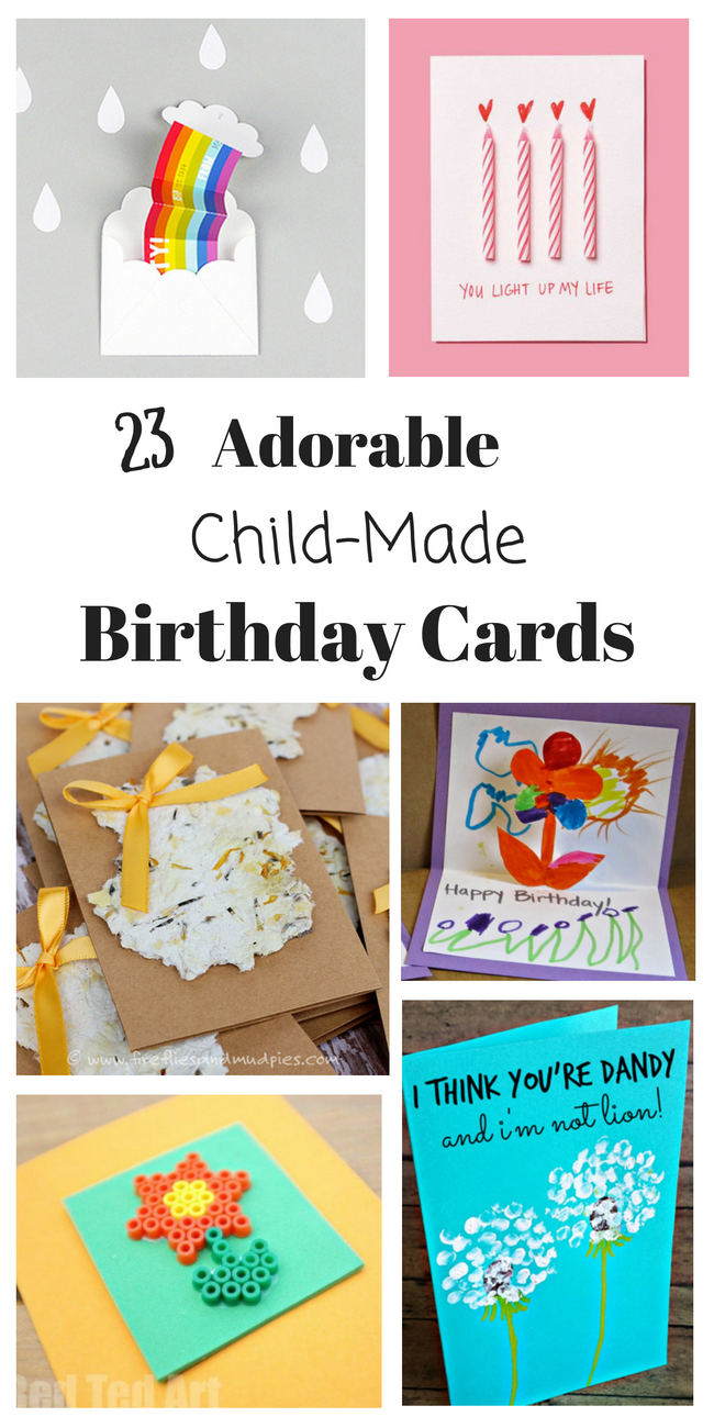 Idea For Birthday Card Homemade Birthday Cards For Kids To Create How Wee Learn