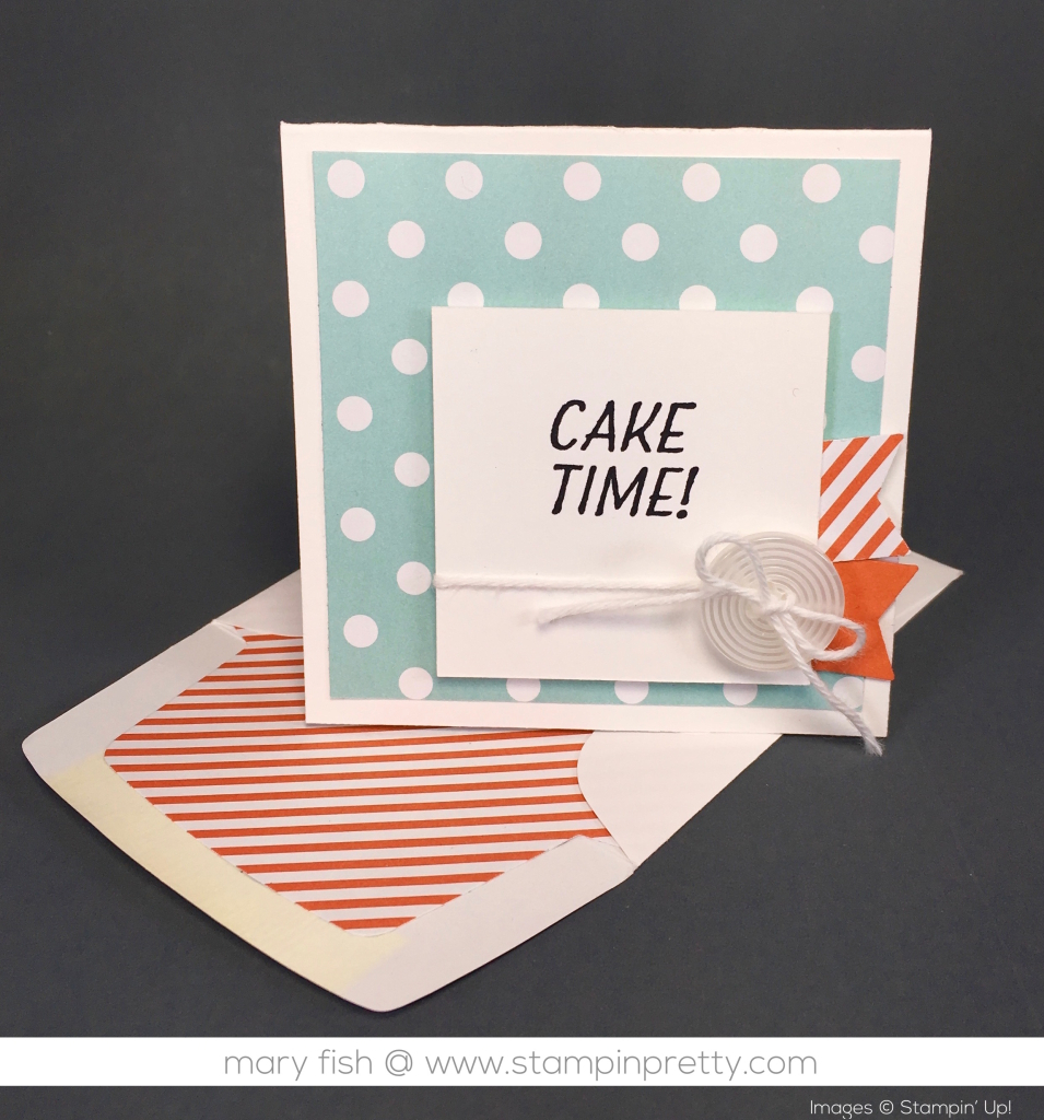 Idea For Birthday Cards Cake Time 3 X 3 Birthday Card Stampin Pretty