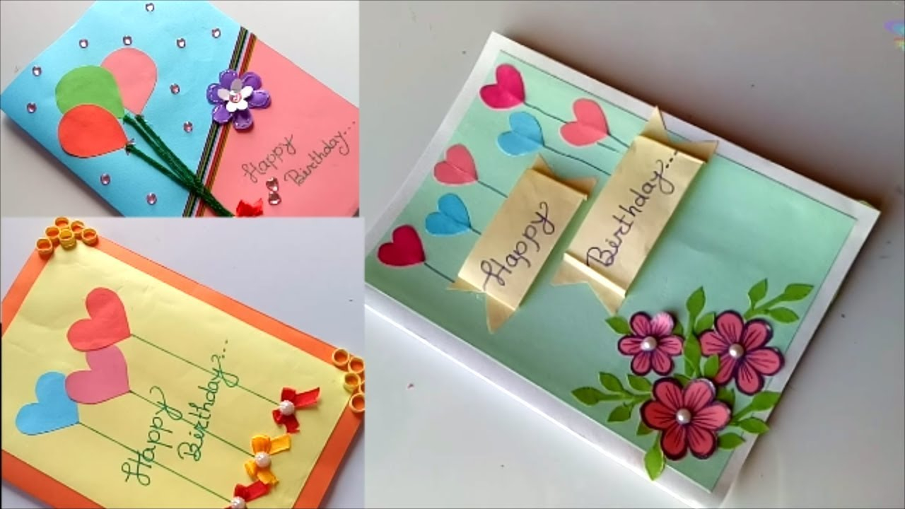 Idea For Making Birthday Cards Beautiful Handmade Birthday Card Idea Diy Greeting Cards For Birthday