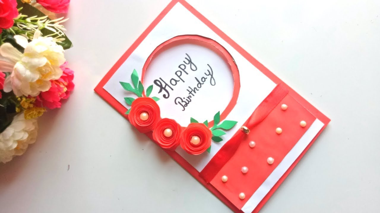 Idea For Making Birthday Cards Beautiful Handmade Birthday Card Idea Diy Greeting Pop Up Cards For Birthday