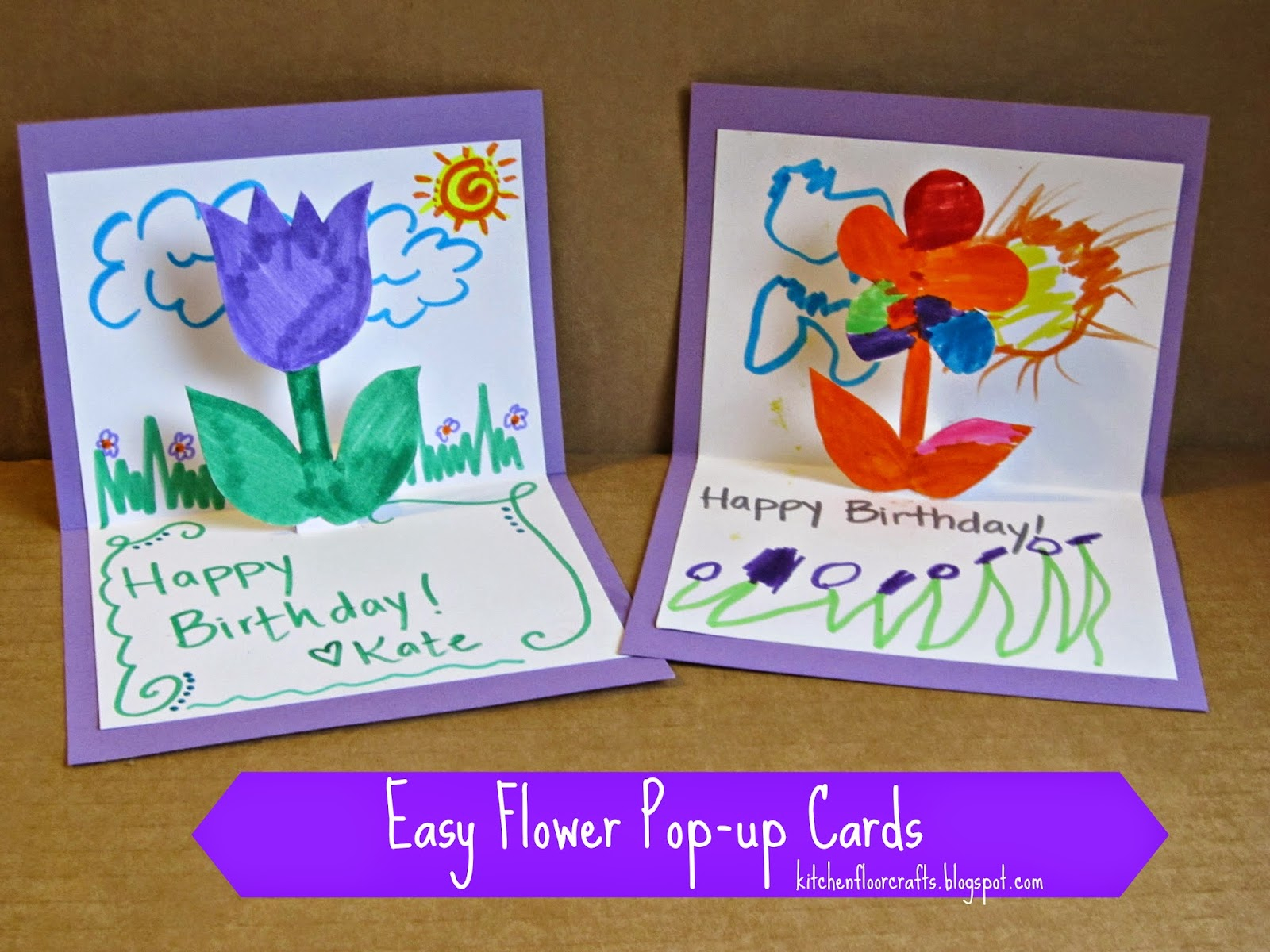 Idea For Making Birthday Cards Homemade Birthday Cards For Kids To Create How Wee Learn
