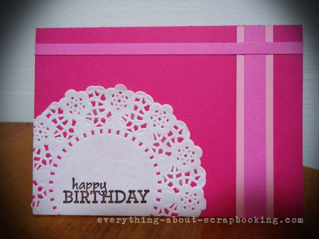 Idea For Making Birthday Cards Hot Pink Scrapbooking Birthday Card Idea Everything About