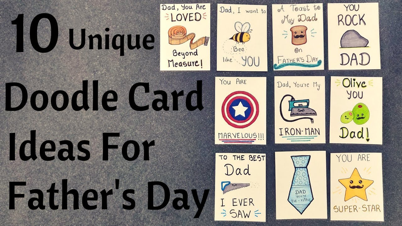 Ideas For Birthday Cards For Dads Diy Fathers Day Pun Doodle Cards Birthday Cards For Dad