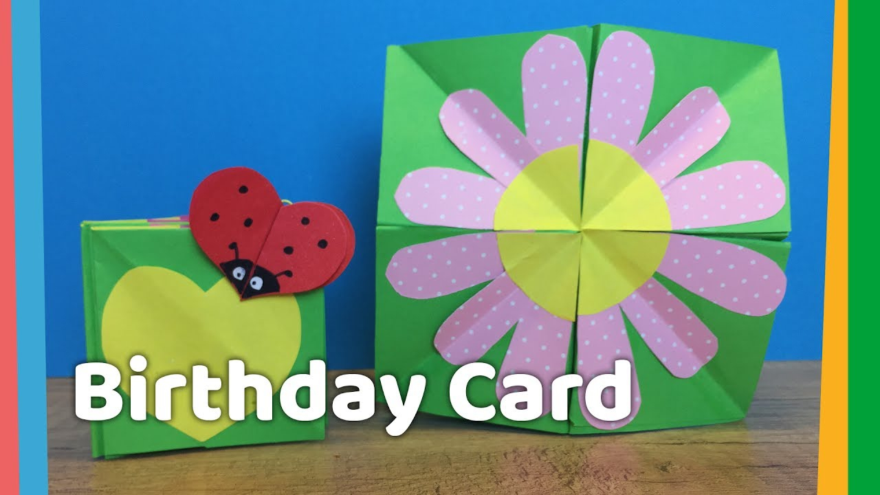 Ideas For Making Birthday Cards At Home Diy Creative Birthday Card Idea For Kids Very Easy To Make At Home