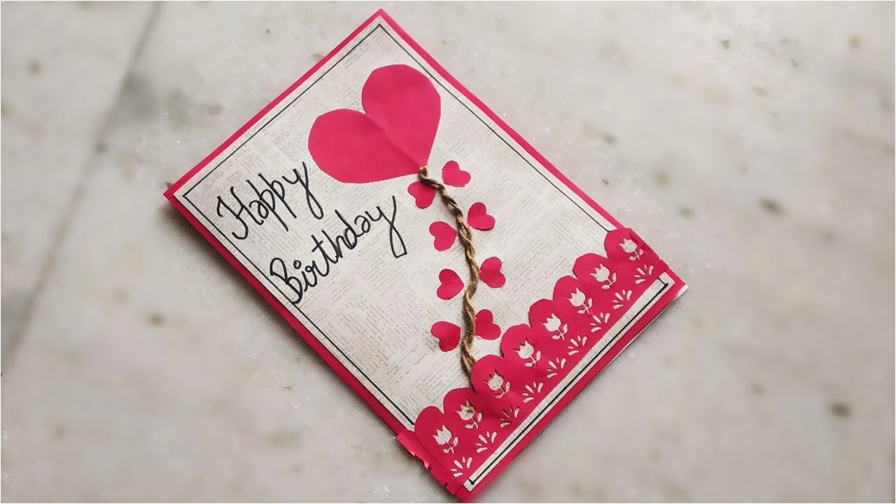 Ideas Of Making Birthday Cards Diy Ideas For Greeting Cards Diy Beautiful Handmade Birthday Card