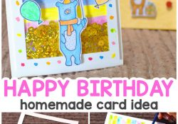 Ideas To Make A Birthday Card How To Make A Birthday Shaker Card Homemade Birthday Card Easy