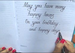 Ideas To Write In A Birthday Card Happy Birthday Message In Cursivewhat To Write On Birthday Card In Cursivegood Wishes In Cursive