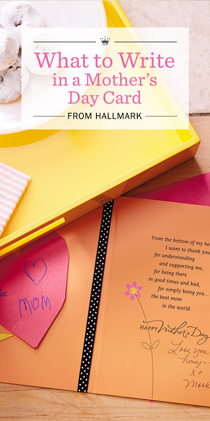 Ideas To Write In Birthday Cards Mothers Day Messages What To Write In A Mothers Day Card