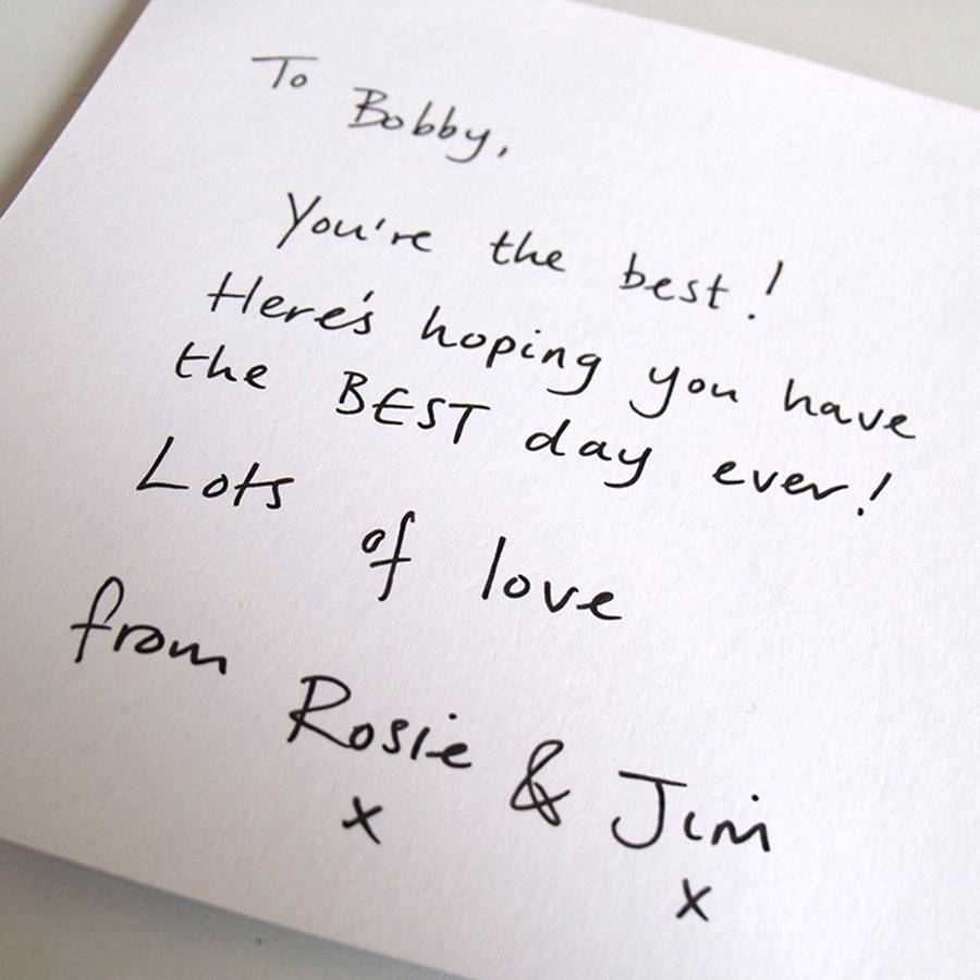 Ideas To Write In Birthday Cards What To Write In A Leaving Card How To Write A Resignation Letter
