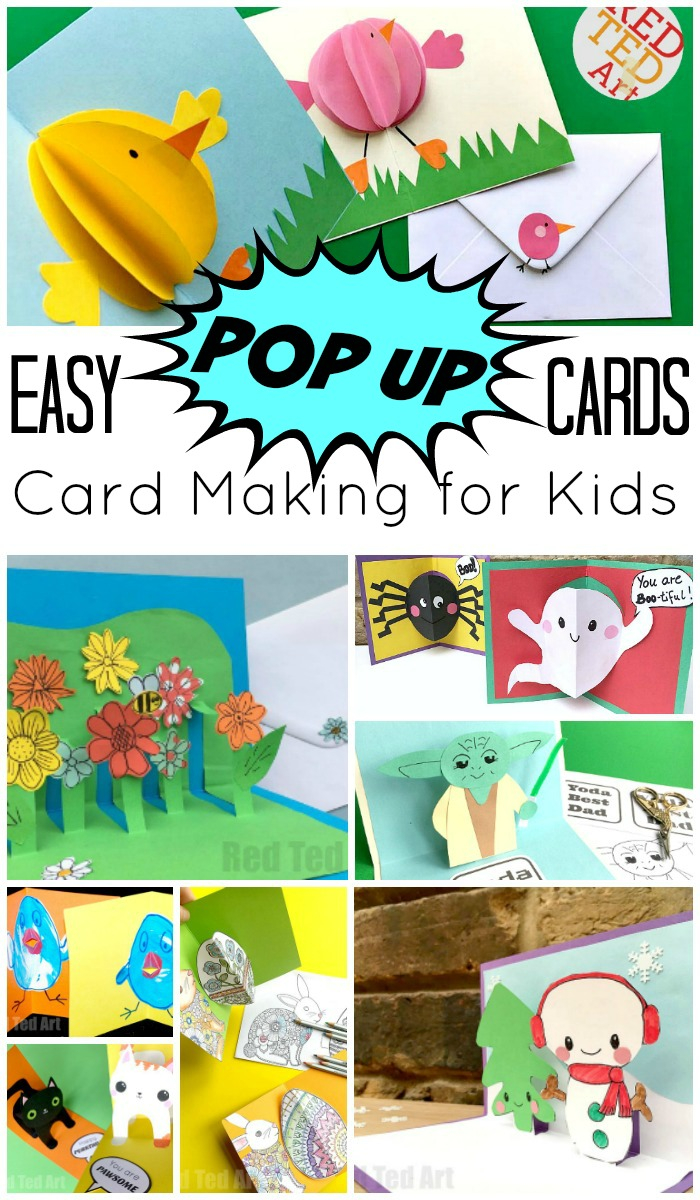 Make Your Own Birthday Card Ideas Easy Pop Up Card How To Projects Red Ted Art
