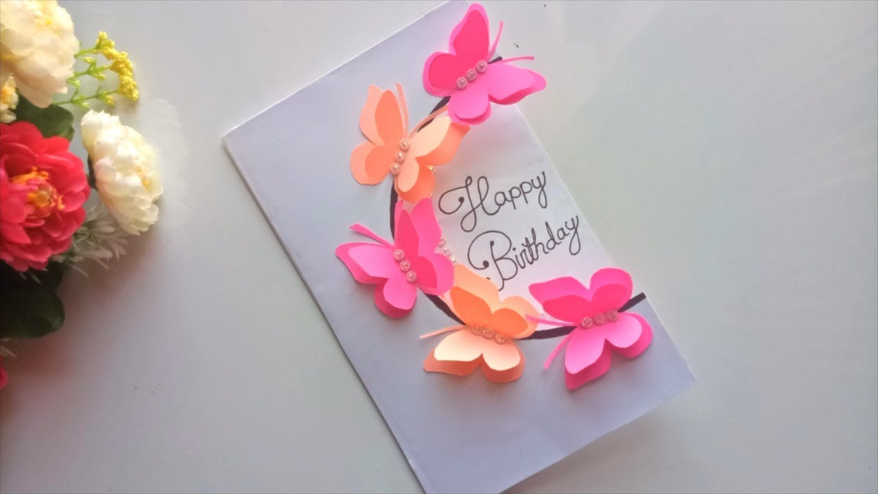 Making Birthday Card Ideas Beautiful Handmade Birthday Card Idea Diy Greeting Pop Up Cards For Birthday