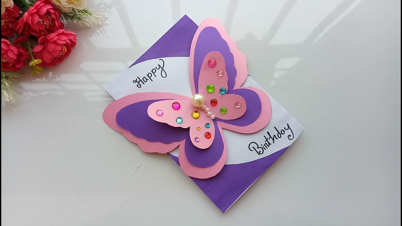 Making Birthday Card Ideas Beautiful Handmade Birthday Cardbirthday Card Idea