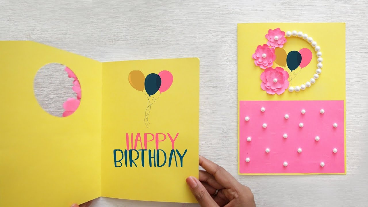 Making Birthday Card Ideas Recyclables Blog Beautiful Birthday Greeting Card Idea Diy