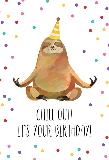 Outstanding Printable Happy Birthday Cards Happy Sloth 2 printable happy birthday cards craftsite.info