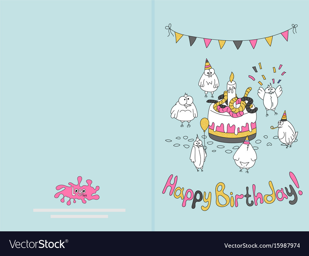 Outstanding Printable Happy Birthday Cards Ready For Print Happy Birthday Card Design Vector 15987974 printable happy birthday cards|craftsite.info